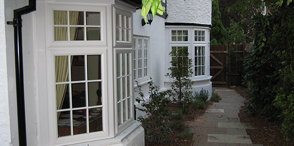 uPVC Casement Windows installed by Worthing Windows on White Detached House