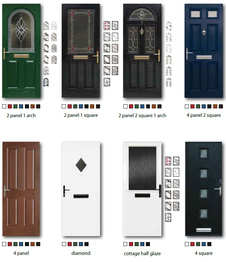 Samples of different Composite Door Options