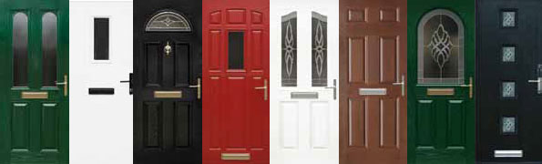 A selection of available colours of Composite Doors supplied and fitted by Worthing Windows