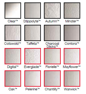 Glass Swatches for our Composite Doors available in Worthing & West Sussex