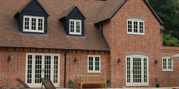 Timber Flush Windows with Georgian Bars installed on a large detached house near Goring, West Sussex