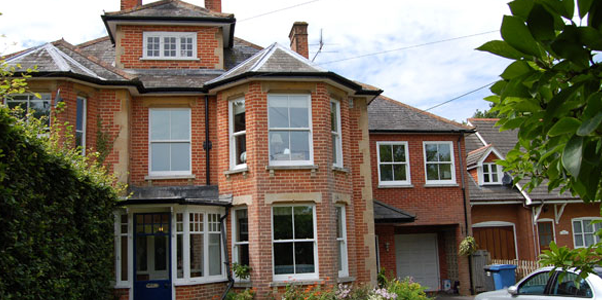 Timber Sash Windows installed on a large house in Worthing, West Sussex by Worthing Windows