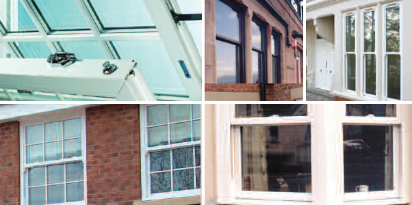 Selection of different styles of Vertical Slider/Sash Windows installed by Worthing Windows